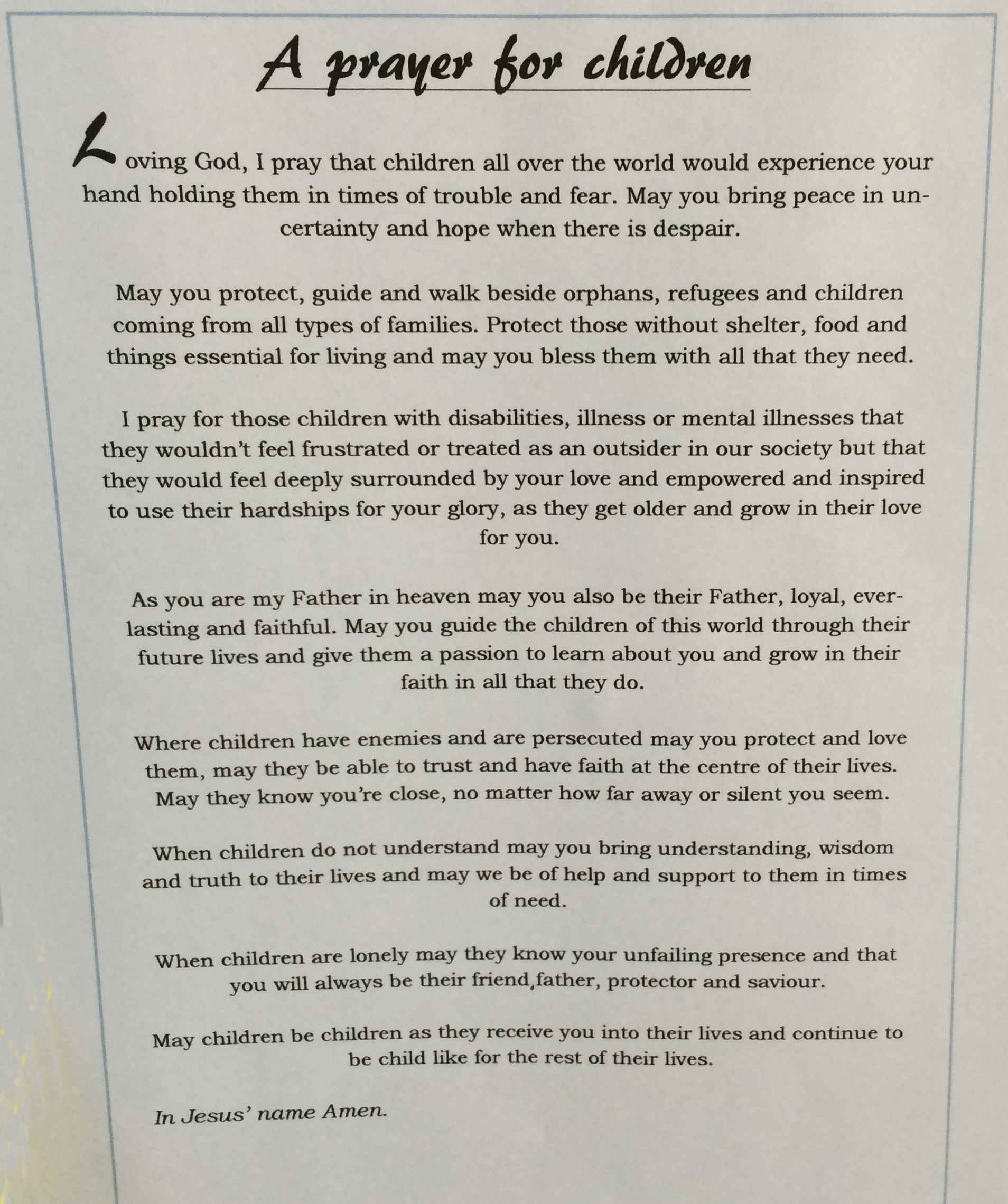 Falmouth and Gwennap Methodist Circuit - Hannah's prayer
